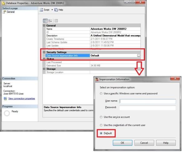 SSAS errors: Logon failure / Cube process failure | SQL